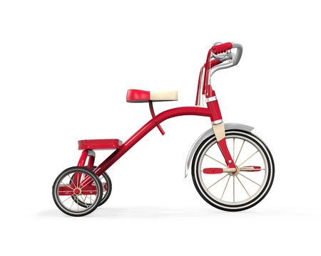 Kids Tricycle Isolated photo