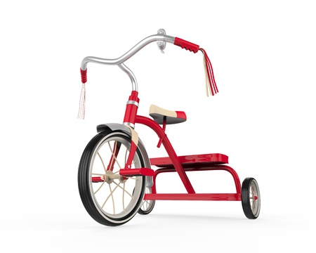 antique tricycle: Kids Tricycle Isolated