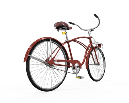 Vintage Bicycle Isolated Stock Photo - 21701006