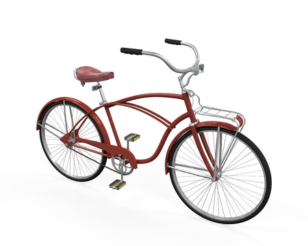 Vintage Bicycle Isolated Stock Photo - 21701007