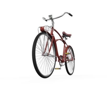 saddle: Vintage Bicycle Isolated Stock Photo