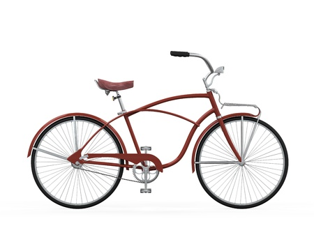 Vintage Bicycle Isolated Stock Photo - 21701009