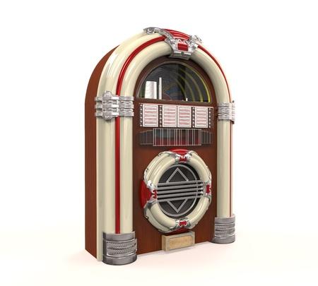 Juke Box Radio Geïsoleerd Stockfoto