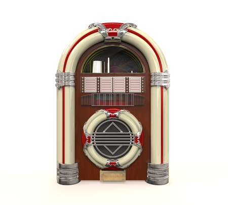 Juke Box Radio Isolated photo