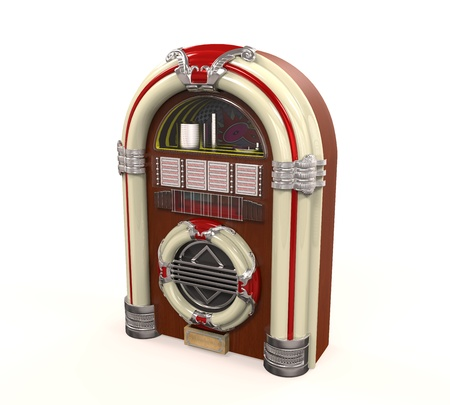 Juke Box Radio Isolated Stock Photo - 21701099