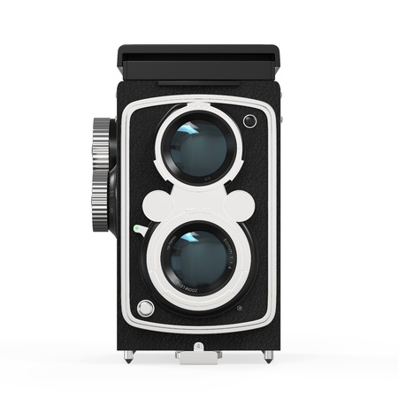 Old Twin Lens Camera Stock Photo - 21701106