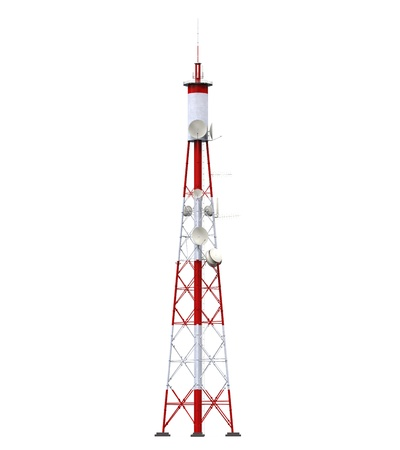 Communication Tower with Antennas Stock Photo - 21701107