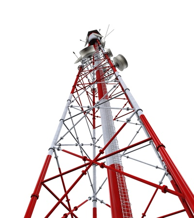Communication Tower with Antennas Stock Photo - 21701108