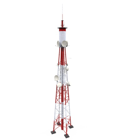 Communication Tower with Antennas Stock Photo - 21701110
