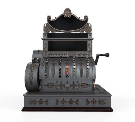 maquina registradora: Caja registradora Vintage Foto de archivo