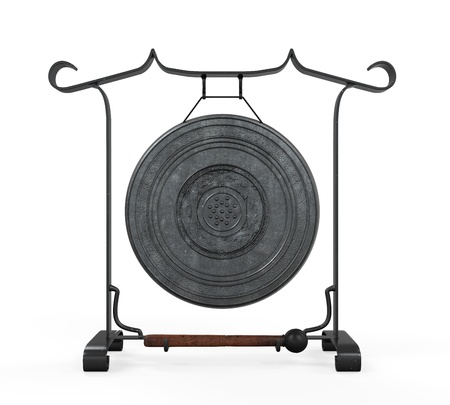 chinese drum: Metal Gong Isolated