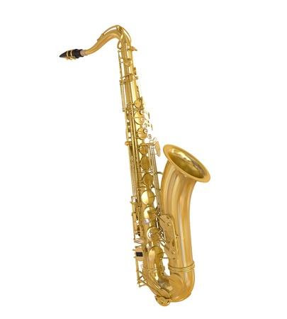 saxofoon geïsoleerd