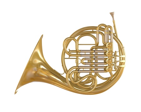 French Horn Isolated Stock Photo - 21959756