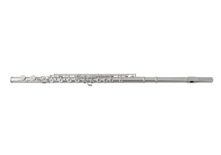 Silver Flute Isolated Stock Photo - 21959760