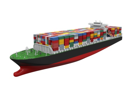 loading cargo: Cargo Container Ship Isolated
