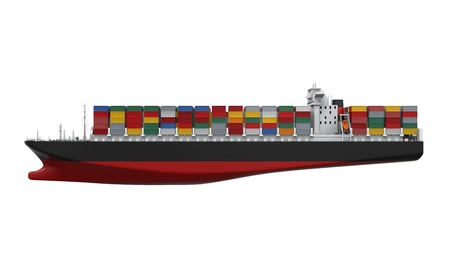 tanker: Cargo Container Ship Isolated