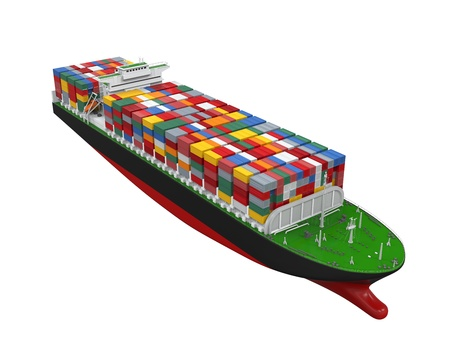 Cargo Container Ship Isolated Stock Photo - 21959764