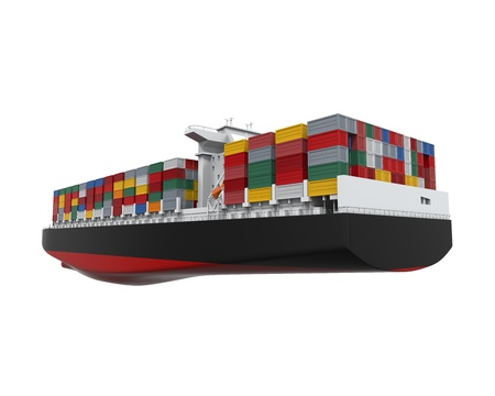 Cargo Container Ship Isolated Stock Photo - 21959763