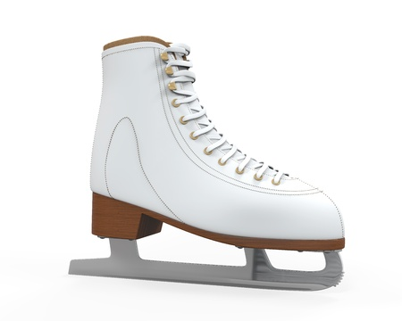 White Figure Skates Isolated Stock Photo - 21959762