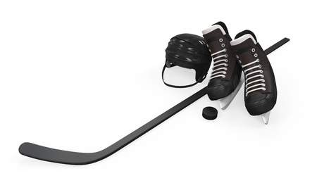 Ice Hockey Equipment Stock Photo