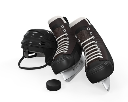 Ice Hockey Equipment Stock Photo - 21959765