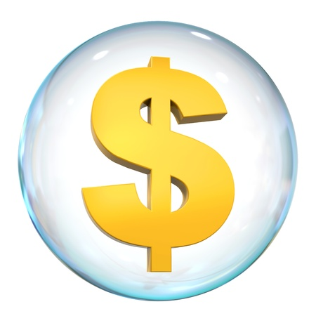 Dollar Currency Bubble Stock Photo - 21959771