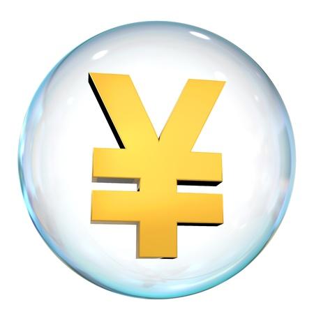 Yen Currency Bubble Stock Photo - 21959770