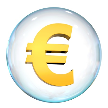 Euro Currency Bubble Stock Photo - 21959930