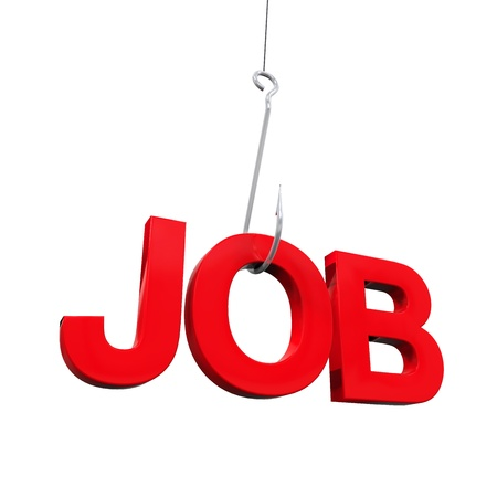Job Word on Hook Stock Photo - 21959937