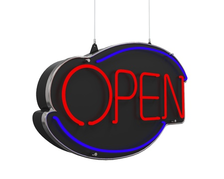 Neon Open Sign Stock Photo - 21959935