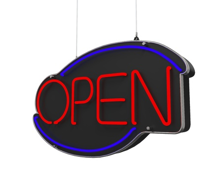 Neon Open Sign Stock Photo - 21959936