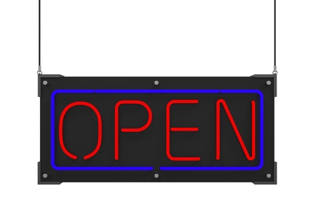 Neon Open Sign Stock Photo - 21960028