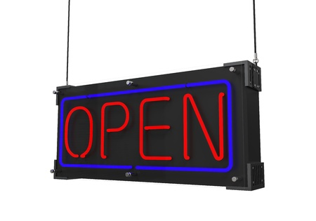 Neon Open Sign Stock Photo - 21960027