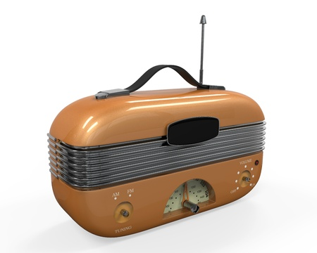 Retro Vintage Radio Stock Photo - 22033881