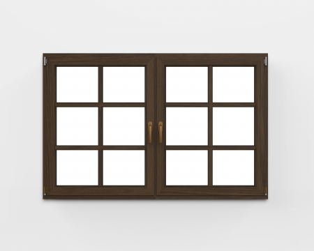 Modern Wood Window Stock Photo - 22033883