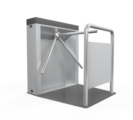 turnstile: Turnstile Entrance Isolated Stock Photo