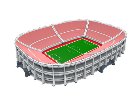 club soccer: Stadium Building Isolated