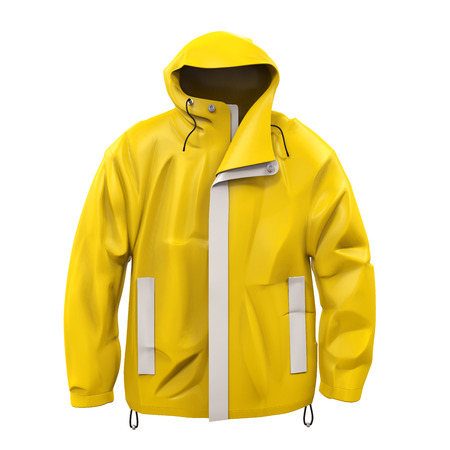 rain coat: Yellow Rain Coat