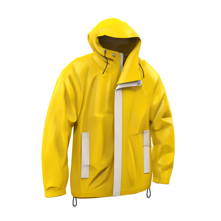 storm rain: Yellow Rain Coat