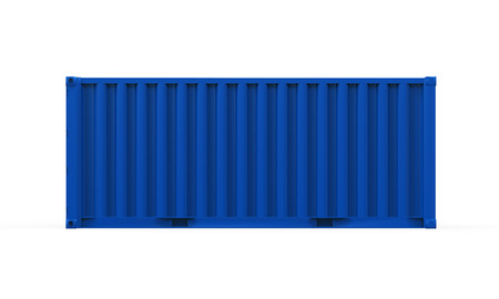 loading dock: Blue Shipping Container