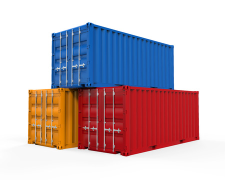 Stacked Shipping Container photo