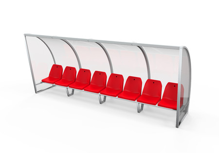 Soccer Player Bench photo