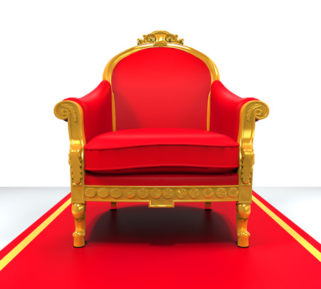 red couch: King Throne Chair