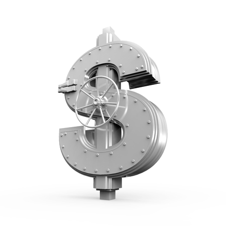 safe money: Dollar Bank Safe Stock Photo