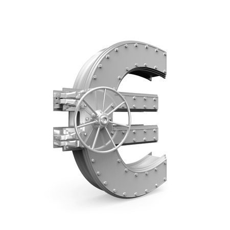 bank vault: Euro Bank Safe Stock Photo