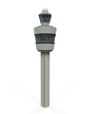 observation: Air Tower Control Isolated Stock Photo