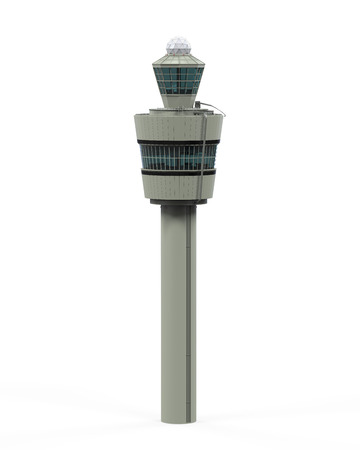 traffic control: Air Tower Control Isolated Stock Photo