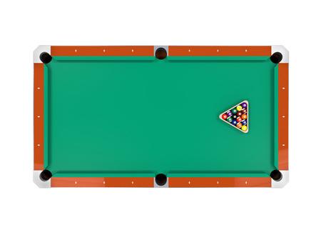 recreation rooms: Billiard Table Isolated