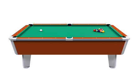 pool cue: Billiard Table Isolated