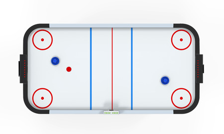 Air Hockey Table Isolated photo